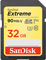 SanDisk Extreme 32GB Class 10 V30 UHS-I SDHC Memory Card
