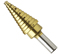 "Bosch Tools 3/16"" To 7/8"" Titanium-Coated Step Drill Bit"