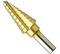 "Bosch Tools 1/4"" to 3/4"" Titanium-Coated Step Drill Bit"