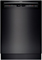 "Bosch 800 Plus Series 24"" Recessed Handle Built-In Black Dishwasher"