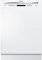 """Bosch 24"""" 300 Series Recessed Handle White Built-In Dishwasher"""