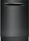 """Bosch 24"""" 500 Series Pocket Handle Black Built-In Dishwasher"""