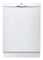 "Bosch 24"" Ascenta Series DLX White Built-In Dishwasher"