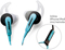 Bose SIE2i Blue In Ear Sport Headphones