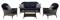 Hanover San Marino Navy Blue 4-Piece Seating Patio Set