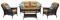 Hanover San Marino Country Cork 4-Piece Seating Patio Set