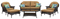 Hanover San Marino Country Cork 6-Piece Seating Patio Set