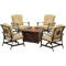 Hanover Summer Nights 5-Piece Conversation Set