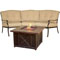 """Hanover Traditions 2-Piece Chat Set With 40"""" Durastone Fire Pit"""