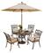 Hanover Traditions 5-Piece Outdoor Dining Patio Set with Umbrella