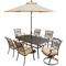 Hanover Traditions 7-Piece Outdoor Dining Patio Set with Umbrella