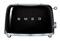 Smeg 50s Retro Style Aesthetic Black 2 Slice Toaster