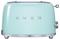 Smeg 50s Retro Style Aesthetic Pastel Green 2 Slice Toaster