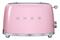 Smeg 50s Retro Style Aesthetic Pink 2 Slice Toaster