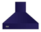 "Viking 36"" Cobalt Blue Chimney Wall Hood"