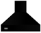 "Viking Professional Series 48"" Black High Chimney Wall Hood"