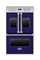 "Viking 30"" Cobalt Blue Electric Double French Door Oven"