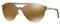 Versace Gold Pilot Womens Sunglasses