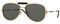 Versace Gold And Black Pilot Mens Sunglasses