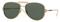 Versace Pale Gold Pilot Mens Sunglasses