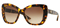 Versace Havana Brown Butterfly Womens Sunglasses