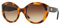 Versace Havana Brown Round Womens Sunglasses