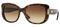Versace Havana Brown Square Womens Sunglasses