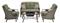 Hanover Ventura Vintage Meadow 4-Piece Fire Pit Outdoor Seating Patio Set
