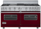 "Viking Custom Series 60"" Burgundy Freestanding Gas Range"