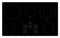 "Whirlpool 36"" Black Electric Cooktop"