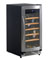 Avanti Black And Stainless Steel Built-In Wine Cooler
