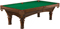 Brunswick Woodbury 8 Ft. Chestnut And Green Billiard Table Package