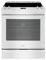 Whirlpool 6.2 Cu. Ft. White Slide-In Electric Range