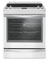 Whirlpool 6.4 Cu. Ft. White Slide-In Electric Range