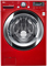 LG Wild Cherry Red Front Load Steam Washer