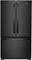 "Whirlpool 36"" Black French Door Counter Depth Refrigerator"