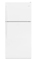 "Whirlpool 30"" White Top-Freezer Refrigerator"