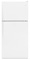 Whirlpool White Top-Freezer Refrigerator