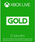 Microsoft Xbox Live 12-Month Gold Membership