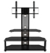 Z-Line Aviton Black Flat Panel TV Stand With Integrated Mount