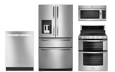Whirlpool Stainless French Door Refrigerator Kitchen Appl...