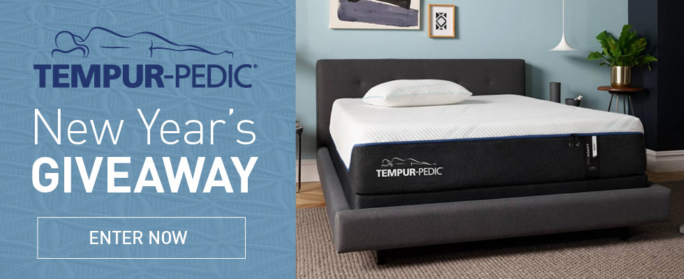 Enter our Tempur-Pedic Giveaway
