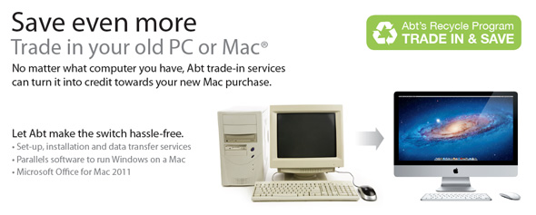 Save even more. Trade in your old PC or Mac.