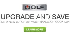 Wolf Upgrade & Save Rebate