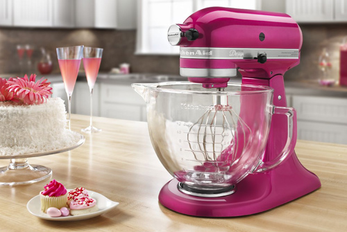KitchenAid Artisan Raspberry Ice Stand Mixer - KSM155GBRI