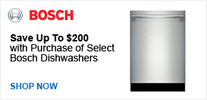 Save Up To $200 on Select Bosch Dishwashers
