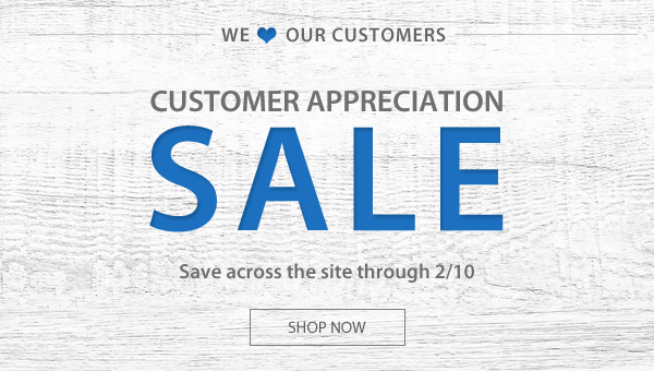 Abt's Weekly Newsletter - Customer Appreciation Sale - 02/08