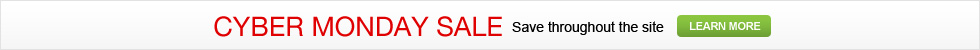 Cyber Monday Sale - Save Throughout The Site