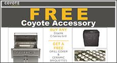 Coyote C-Series Free Grill Cover & Ceramic Briquettes
