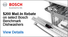 Bosch - Receive up to a $200 Mail-In rebate with the purchase of a select Bosch Benchmark Dishwasher. Expires: 11-30-14